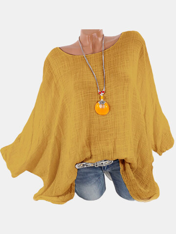 Batwing Sleeve Simple Shirts
