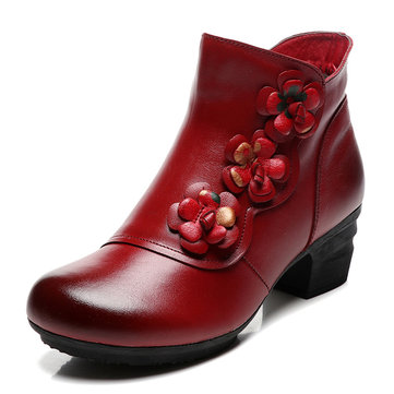 Leather Vintage Warm Lining Boots