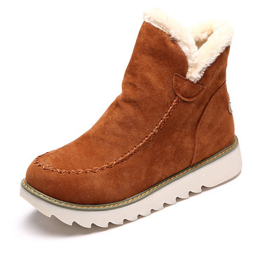 Warm Fur Lining Winter Ankle Snow Boots