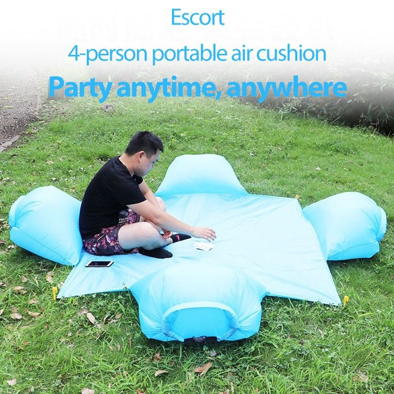 Outdoor Waterproof Camping Mat With Pillow Portable Foldable Sleeping Pad